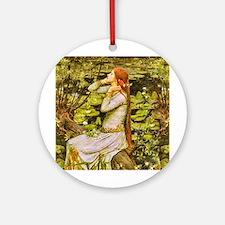 Waterhouse: Ophelia (1894) Ornament (Round)