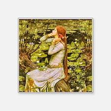 "Waterhouse: Ophelia (1894) Square Sticker 3"" x 3"""