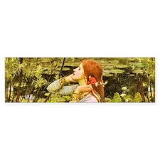 Waterhouse: Ophelia (1894) Bumper Sticker