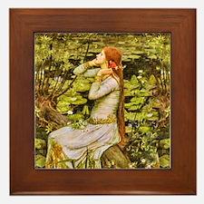 Waterhouse: Ophelia (1894) Framed Tile