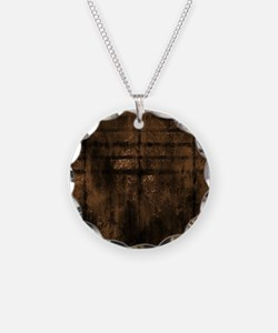 Cocoa Metal Effect Necklace