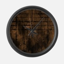 Cocoa Metal Effect Large Wall Clock
