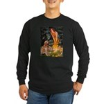 Fairies & Golden Long Sleeve Dark T-Shirt