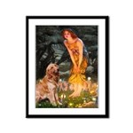 Fairies & Golden Framed Panel Print