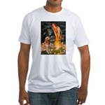 Fairies & Golden Fitted T-Shirt