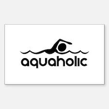 Aquaholic Decal
