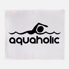 Aquaholic Throw Blanket