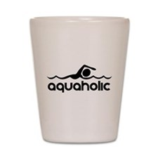 Aquaholic Shot Glass