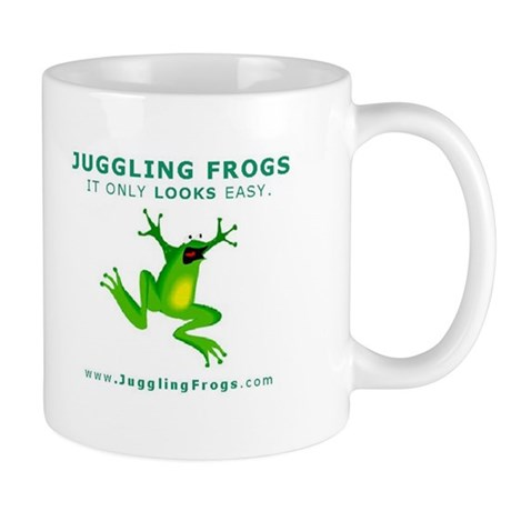 Official Juggling Frogs coffee Passover mug