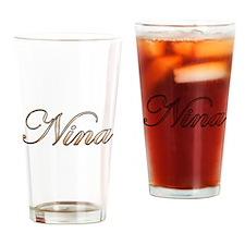 Gold Nina Drinking Glass