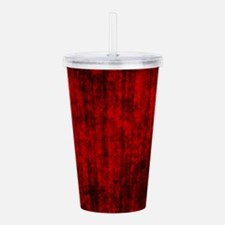Red Grunge Acrylic Double-wall Tumbler