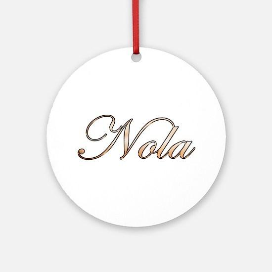 Gold Nola Round Ornament