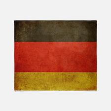 Grunge Germany Flag Throw Blanket