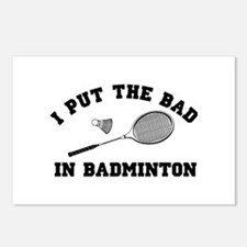 Bad in badminton 2 Postcards (Package of 8)