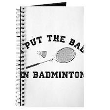 Bad in badminton 2 Journal