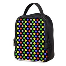 Bingo Balls Black Case.png Neoprene Lunch Bag