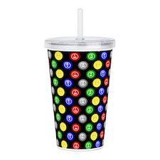Bingo Balls Black Case.png Acrylic Double-wall Tum