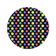 "Bingo Balls Black Case.png 3.5"" Button"