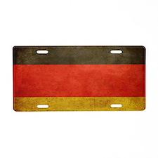 Grunge Germany Flag Aluminum License Plate