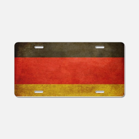 Grunge Germany Flag Aluminum License Plate