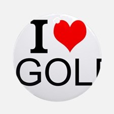 I Love Golf Ornament (Round)
