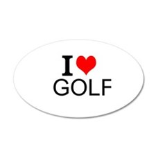 I Love Golf Wall Decal