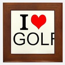 I Love Golf Framed Tile