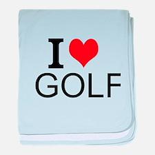 I Love Golf baby blanket
