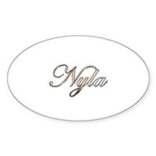 Gold Nyla Decal