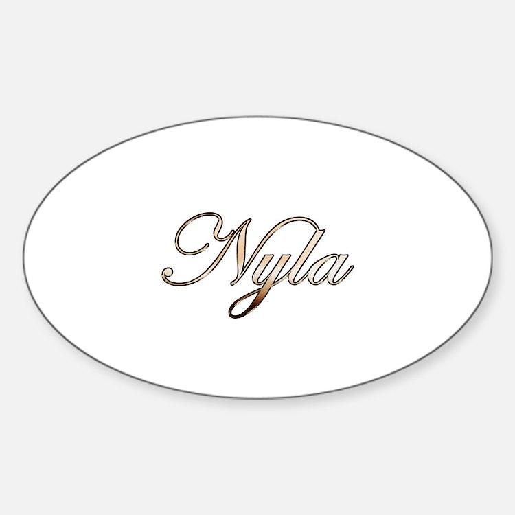 Gold Nyla Decal