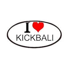 I Love Kickball Patches