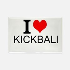 I Love Kickball Magnets