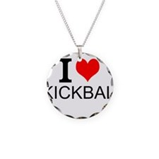 I Love Kickball Necklace