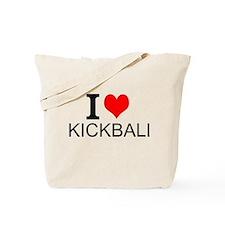 I Love Kickball Tote Bag