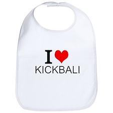 I Love Kickball Bib