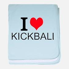 I Love Kickball baby blanket