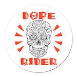 Dope Rider Round Car Magnet