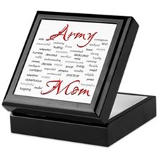 Army Mom poem in words Keepsake Box