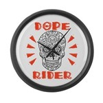 Dope Rider Large Wall Clock