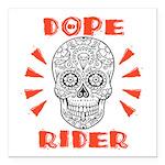 "Dope Rider Square Car Magnet 3"" X 3"""