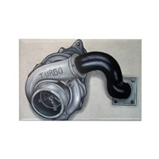 Turbo Charger Rectangle Magnet