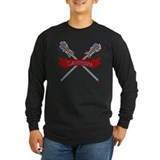 American flag lacrosse shirts Long Sleeve T-shirts (Dark)