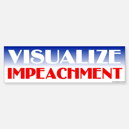 Visualize Impeachment Bumper Car Car Sticker