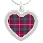 Tartan - Chisholm of Strathg Silver Heart Necklace