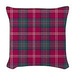 Tartan - Chisholm of Strathgla Woven Throw Pillow