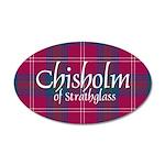 Tartan - Chisholm of Strathg 20x12 Oval Wall Decal