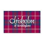 Tartan - Chisholm of Strathglass 20x12 Wall Decal