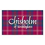 Tartan - Chisholm of Strathgla Sticker (Rectangle)