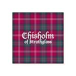 Tartan - Chisholm of Strath Square Sticker 3