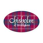 Tartan - Chisholm of Strathglass Oval Car Magnet